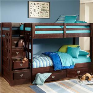 Oak Furniture West University OFW Stair Bunk Bed