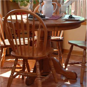 Oakwood Industries Casual Dining Round Pedestal Table