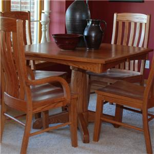 Oakwood Industries Casual Dining Lighthouse Single Pedestal Table