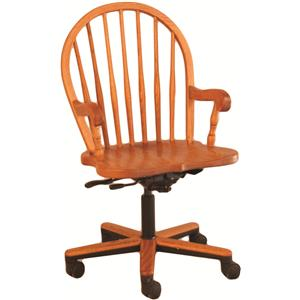 Oakwood Industries Casual Dining Bow Spindle Gas Lift Arm Chair