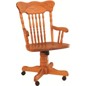 Oakwood Industries Casual Dining Pressed Back Roller Arm Chair