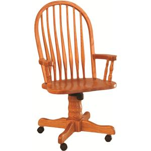 Oakwood Industries Casual Dining Bent Back Roller Arm Chair