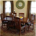 Oakwood Industries Casual Dining Contour Dining Side Chairs - Shown with Table and Arm Chairs