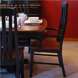 Oakwood Industries Casual Dining Contour Arm Chair