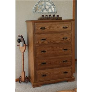 Oakwood Industries Oakwood Traditional Bedroom Traditional Five Drawer Chest
