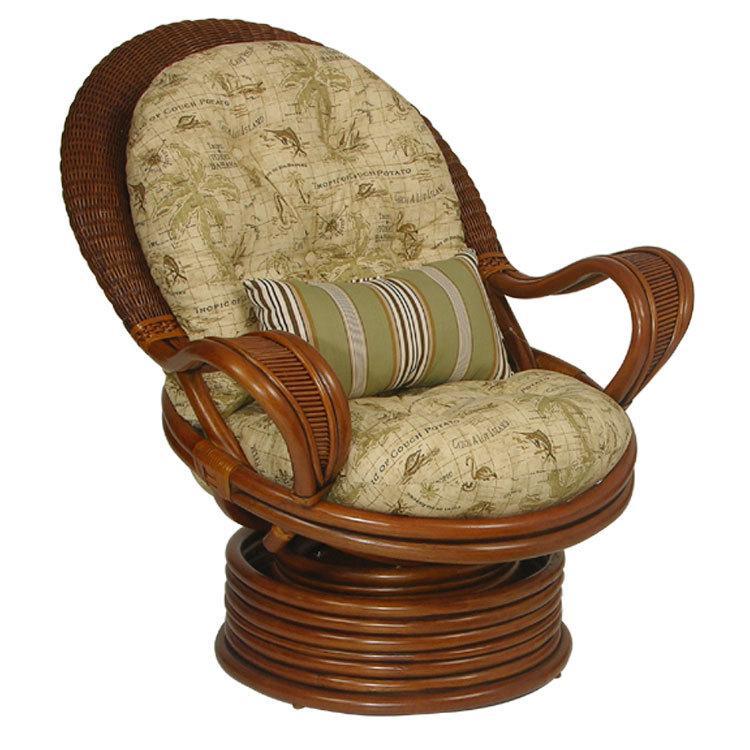 Upholstered Swivel Rocker