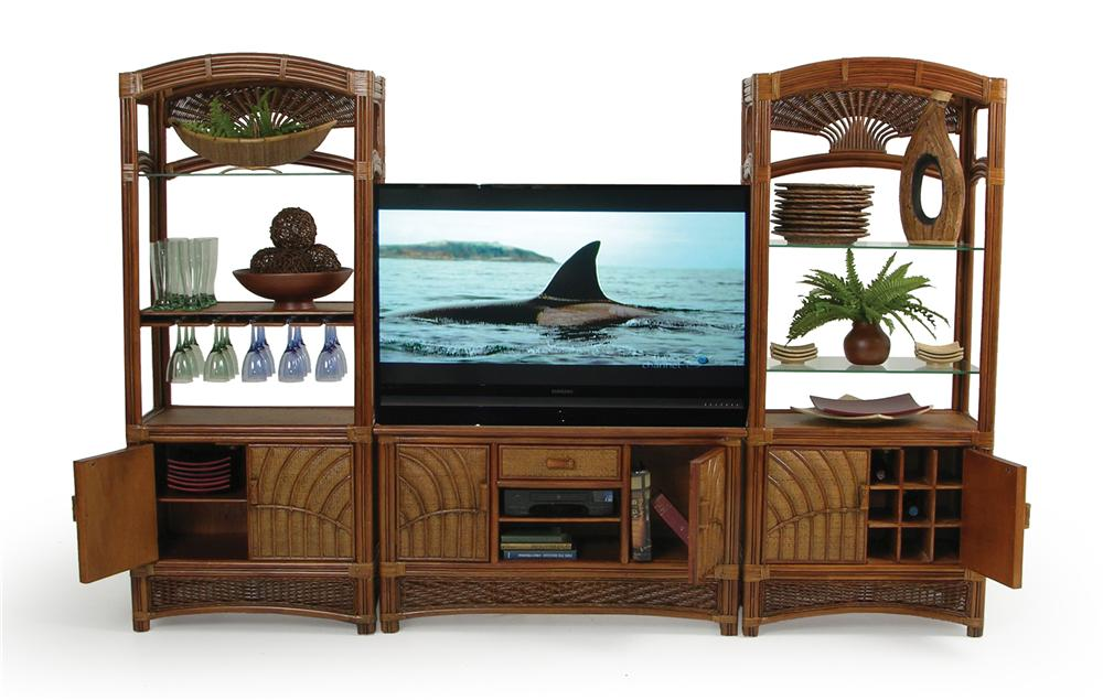 Entertainment Center By Palm Springs Rattan Wolf And