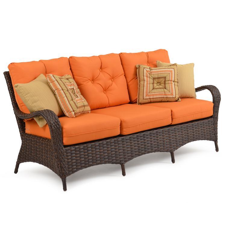 Outdoor Sofa W/ Throw Pillows