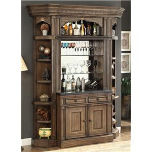 Parker House Aria Library 2pc Bar Base and Hutch