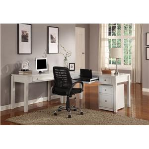 Parker House Boca Three-Piece L-Shaped Desk