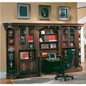 Parker House Huntington Large Wall Desk and Hutch