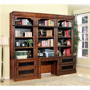Parker House Leonardo 4pc Library Desk and Lateral File