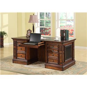 Parker House Leonardo Double Pedestal Executive Desk