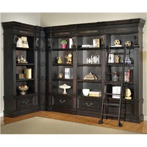 Parker House Palazzo  6 Piece Museum Bookcase Wall