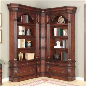 Parker House Versailles Library Corner Bookshelf