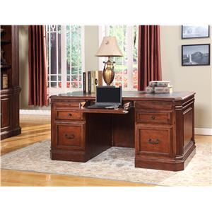 Parker House Wellington Double Pedestal Executive Desk