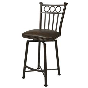 "Pastel Minson Iron Barstools Bostonian 30"" Swivel Barstool in Autumn Rust"