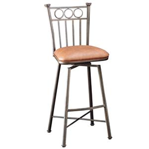 "Pastel Minson Iron Barstools Bostonian 26"" Swivel Barstool in Bronze"