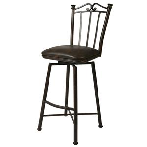 "Pastel Minson Iron Barstools Laguna 30"" Swivel Barstool in Autumn Rust"