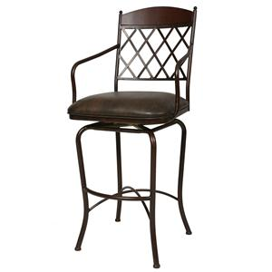 "Pastel Minson Iron Barstools Napa Ridge 30"" Swivel Barstool Autumn Rust"