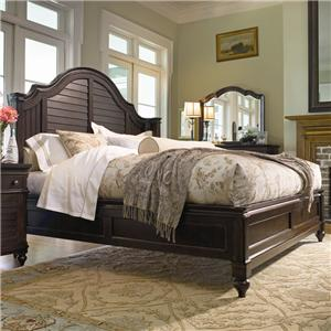 Universal Home King Steel Magnolia Bed
