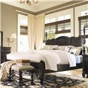 Paula Deen by Universal Paula Deen Home King Savannah Poster Bed with 3 Post Options - Shown with low headboard posts only