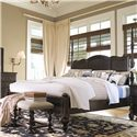 Paula Deen by Universal Paula Deen Home King Savannah Poster Bed with 3 Post Options - Shown with tall headboard posts only