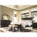 Paula Deen by Universal Paula Deen Home King Savannah Poster Bed with 3 Post Options - Shown with nightstand and bed end bench