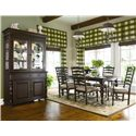 Universal Home Paula's Rectangular Leg Table - Shown with china cabinet and table set