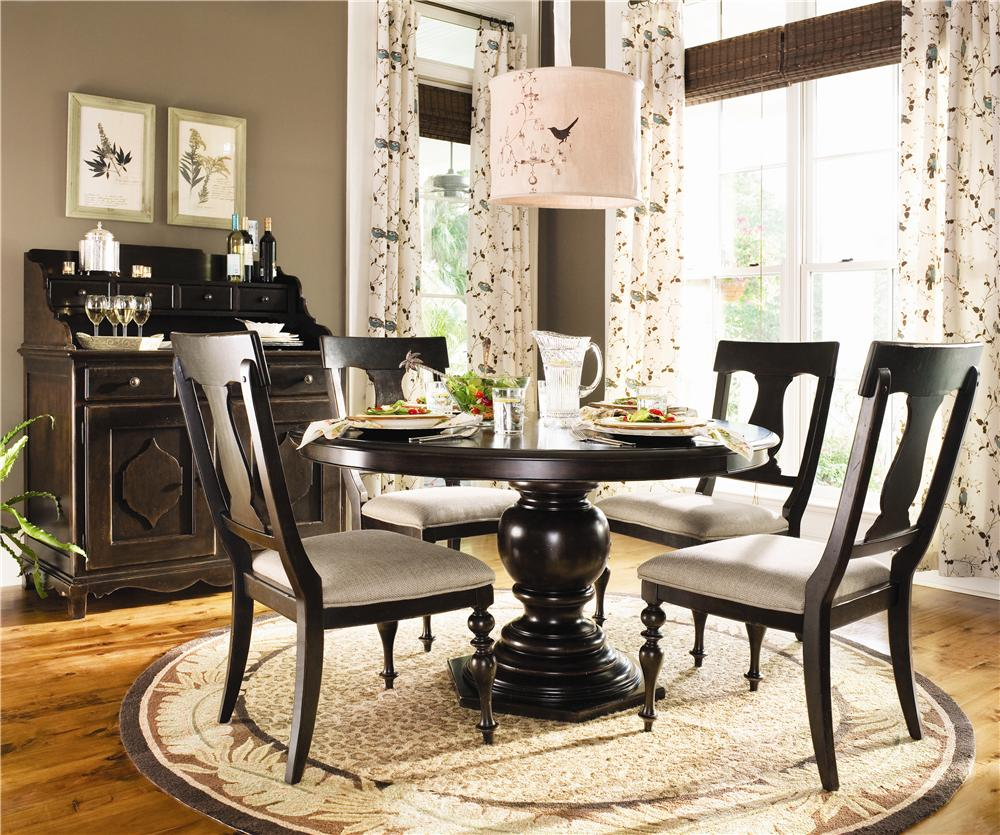 Round Pedestal Table By Paula Deen Universal