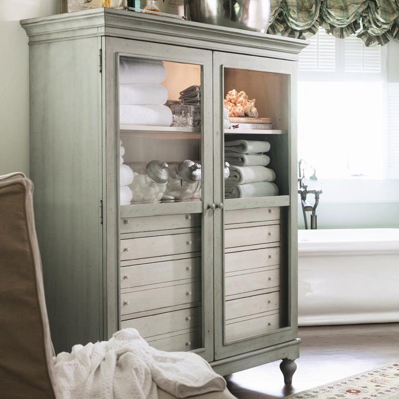 The Bag Lady's Cabinet with 2 Shelves and 8 Drawers by