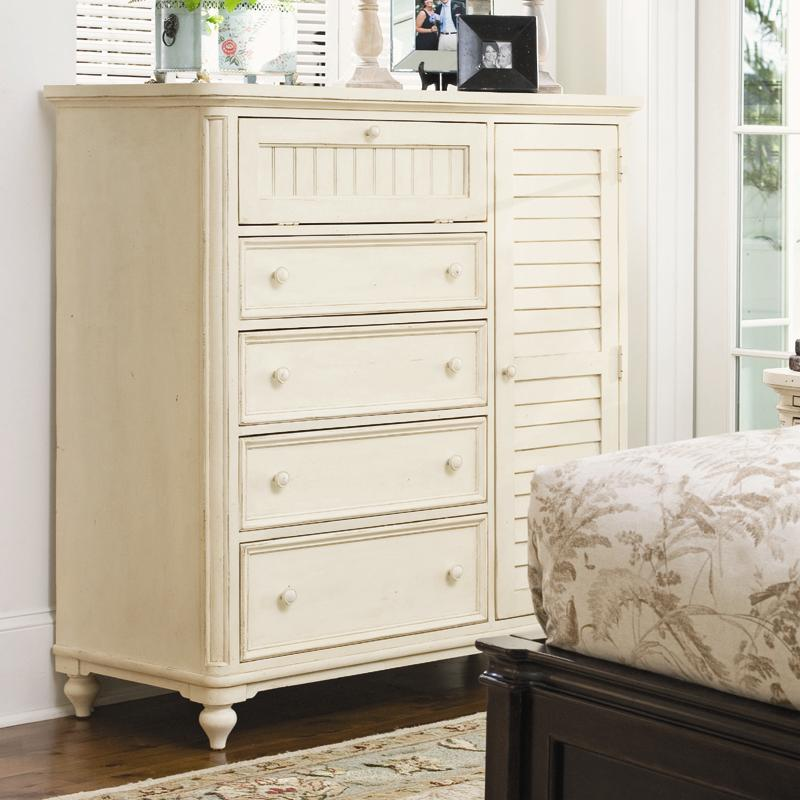 Door Chest with Louvered Door and Clothing Rod by Paula Deen by ...