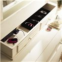 Paula Deen by Universal Paula Deen Home The Lady's Dresser & Storage Mirror - Detail of jewelry storage and power outlet