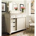 Paula Deen by Universal Paula Deen Home The Lady's Dresser with 2 Sliding Doors - Shown with The Lady\'s Storage Mirror