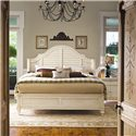 Paula Deen by Universal Paula Deen Home California King Steel Magnolia Bed with Panel Headboard and Low Footboard - Shown with nightstand with doors