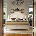 Paula Deen by Universal Paula Deen Home California King Steel Magnolia Bed with Panel Headboard and Low Footboard - Shown with nightstand with doors in Tobacco finish