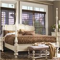 Paula Deen by Universal Paula Deen Home King Savannah Poster Bed with 3 Post Options - Bed Shown May Not Represent Size Indicated