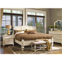 Paula Deen by Universal Paula Deen Home King Savannah Poster Bed with 3 Post Options - Shown with low front posts
