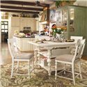 Paula Deen by Universal Paula Deen Home Counter Height Chair with Upholstered Seat  - Shown with table set