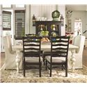 Paula Deen by Universal Paula Deen Home Paula's Table w/ Wing Chairs & Side Chairs - Item Number: 996653+2x932638+4x932634