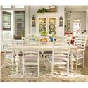 Paula Deen by Universal Paula Deen Home Paula's Table w/ Ladder Arm & Side Chairs - Item Number: 996653+2x996635+4x996634