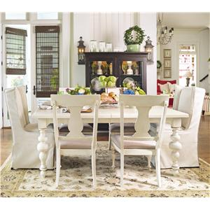 Paula Deen by Universal Paula Deen Home Paula's Table w/ Wing & Splat Chairs