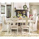 Paula Deen by Universal Paula Deen Home Paula's Table w/ Wing & Splat Chairs - Item Number: 996653+2x996638+4x996632