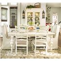 Paula Deen by Universal Paula Deen Home Paula's Table w/ Wing Chairs & Side Chairs - Item Number: 996653+2x996638+4x996634