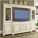 Paula Deen by Universal Paula Deen Home 66-inch Entertainment Console with 6 Drawers - Shown as part of Entertainment Wall Unit