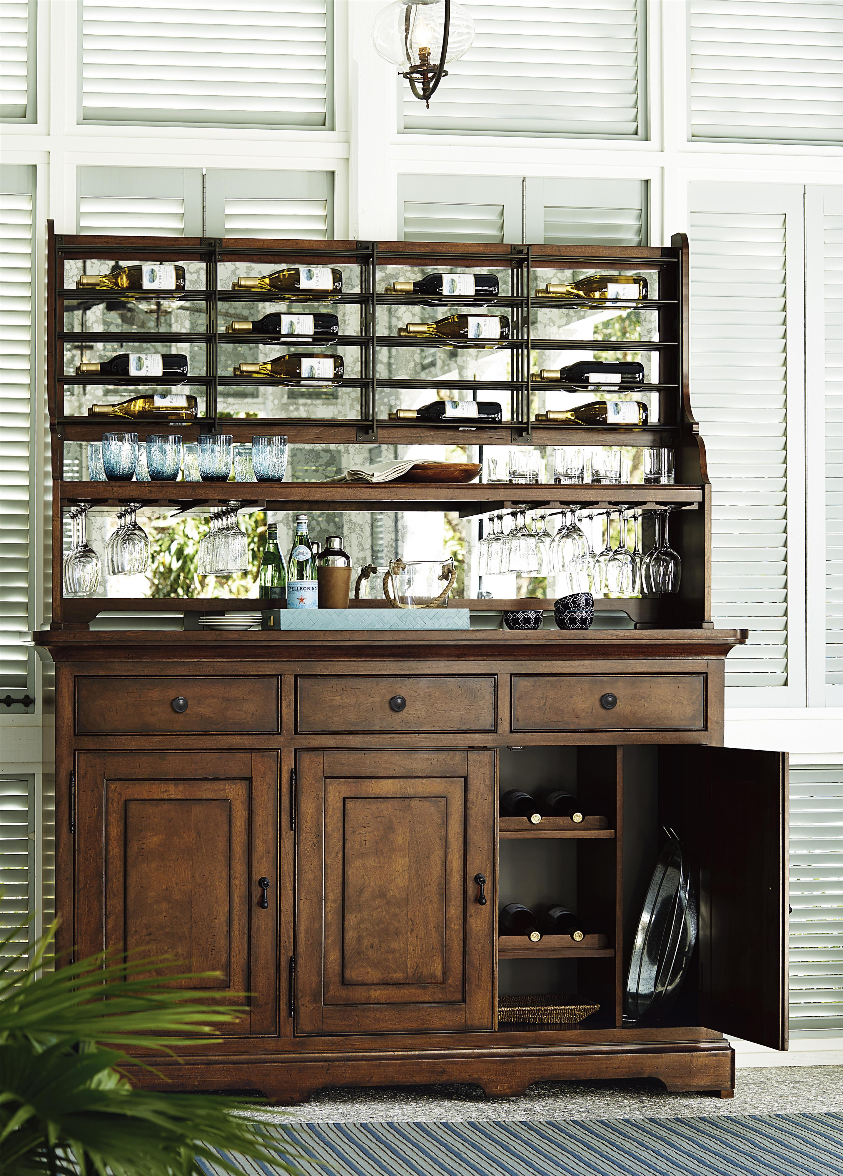 Paula Deen Kitchen Cabinets Credenza With Wine Bottle Rack And Stemware Storage By Paula Deen