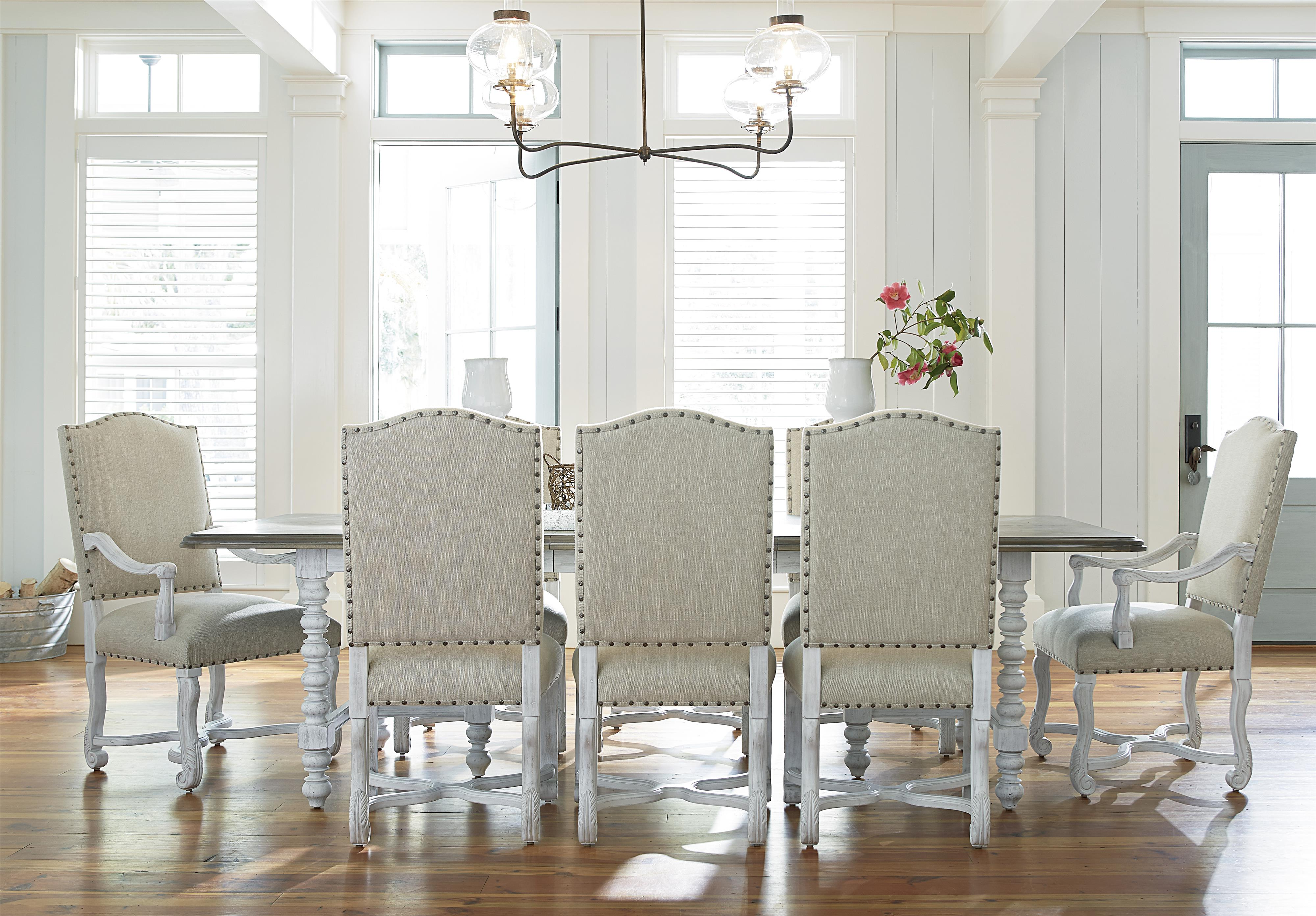9 piece dining set with upholstered chairspaula deen