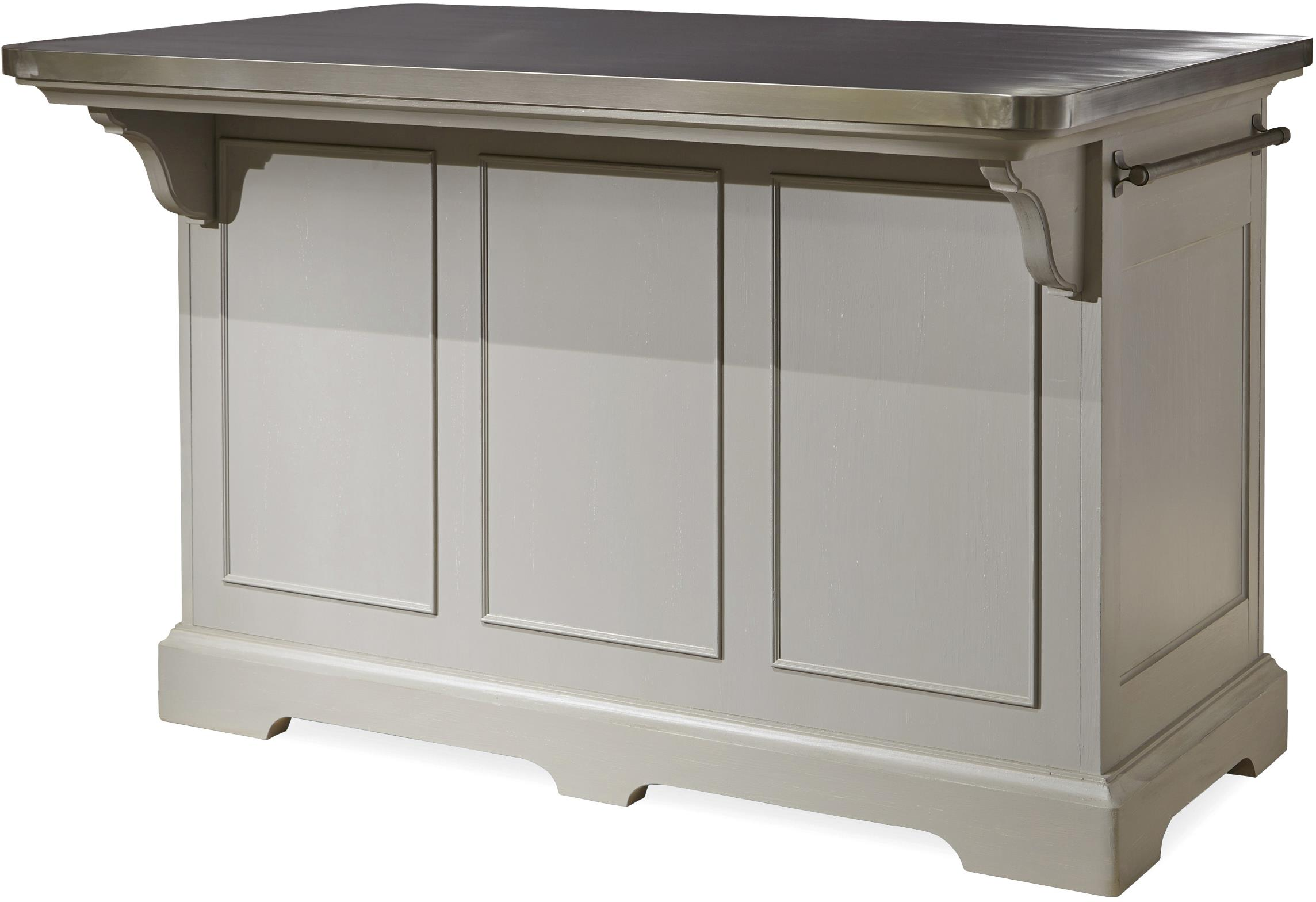 metal top kitchen island the kitchen island with stainless wrapped metal top by 20604