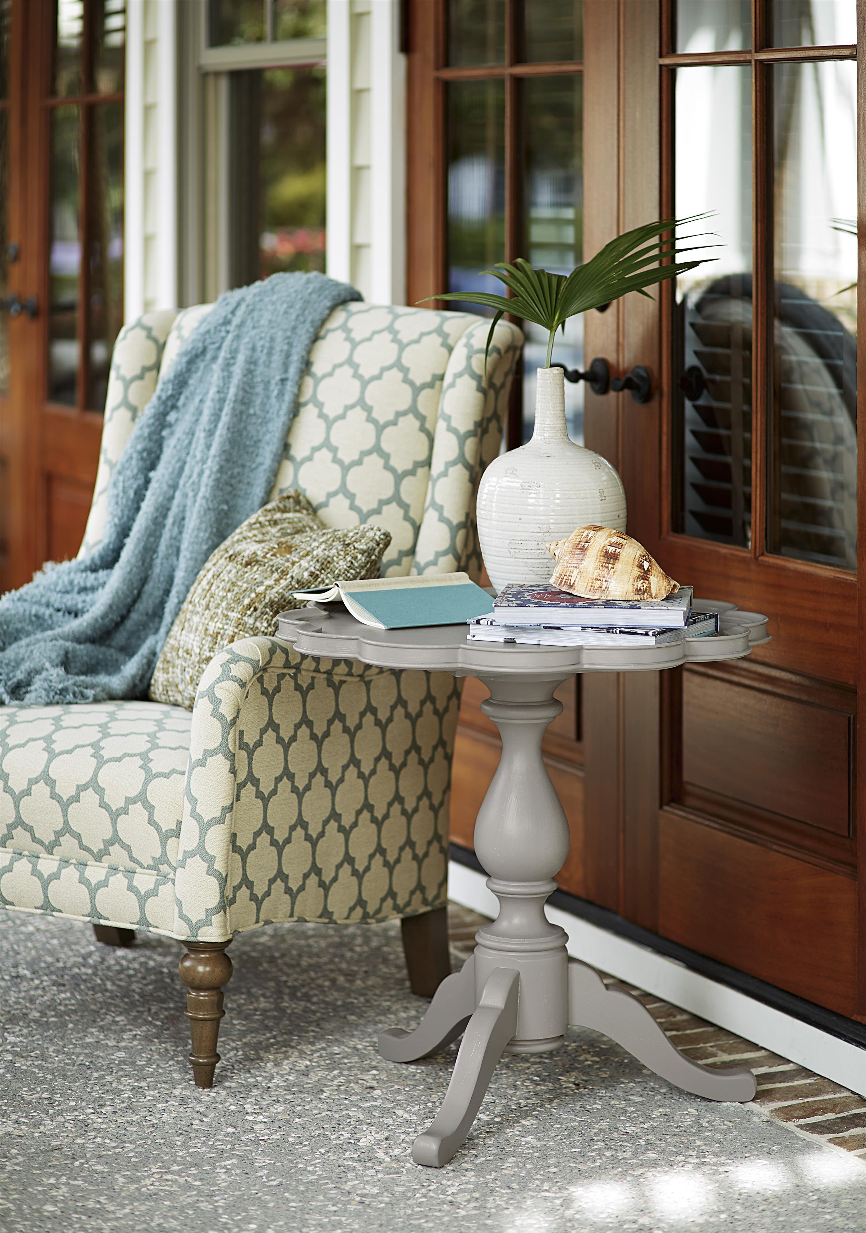 Paula Deen Living Room Furniture Pie Crust Table With Pedestal Base By Paula Deen By Universal