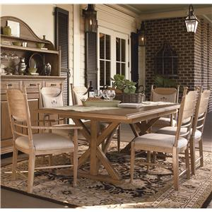 Paula Deen by Universal Down Home Family-Style Table w/ Side and Arm Chairs